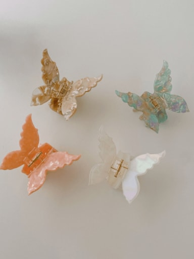 Cellulose Acetate Cute Butterfly Alloy Jaw Hair Claw