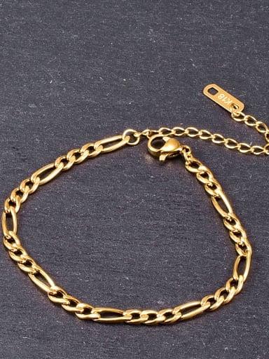 Titanium Minimalist hollow chain Link Bracelet