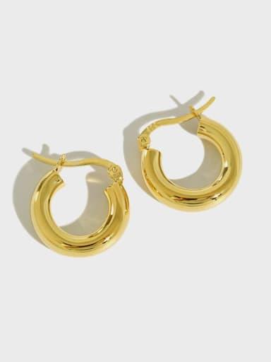 925 Sterling Silver Geometric Vintage Hoop Earring