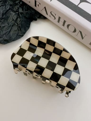 Black and white 8.7cm PVC Minimalist Irregular Alloy Multi Color Jaw Hair Claw