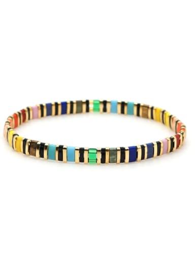 TL B190091E Tila Bead Bohemia Multi Color Geometric Pure handmade  Bracelet