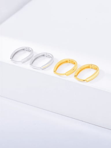 925 Sterling Silver Geometric Minimalist Huggie Earring