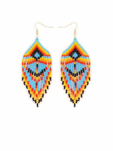 Multi Color Miyuki beads  Tassel Bohemia  Pure Handmade Earring Earring