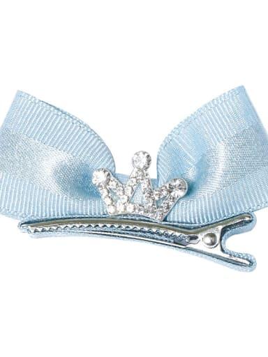 2 sky blue Alloy Fabric Minimalist Bowknot  Multi Color Hair Barrette