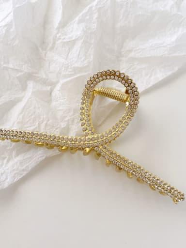 2 Water Diamond 11cm Alloy Imitation Pearl Minimalist Geometric  Jaw Hair Claw