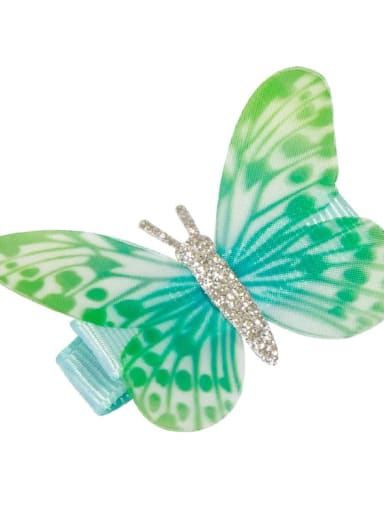 4 Alloy Fabric Cute Butterfly  Multi Color Hair Barrette