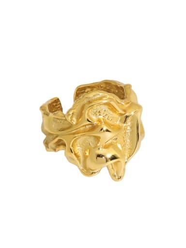 18K gold [13 adjustable] 925 Sterling Silver Irregular Vintage Band Ring