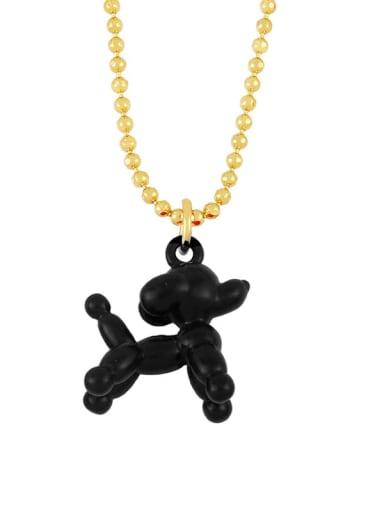 black Brasel  Cute Cartoon Dog Pendat Necklaces