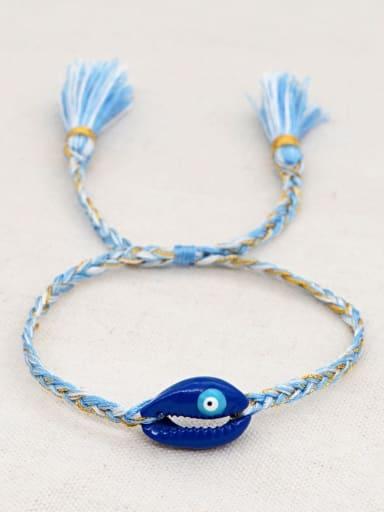 B B200060E Multi Color Polymer Clay Irregular Bohemia Handmade Weave Bracelet