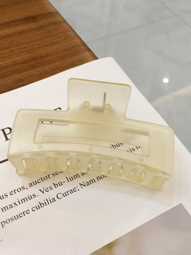 Yellow 8 . 8cm Alloy  Cellulose Acetate Minimalist Geometric Jaw Hair Claw