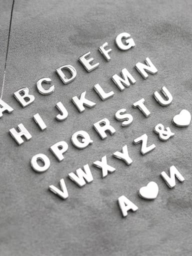 925 Sterling Silver Minimalist Letter  Pendant