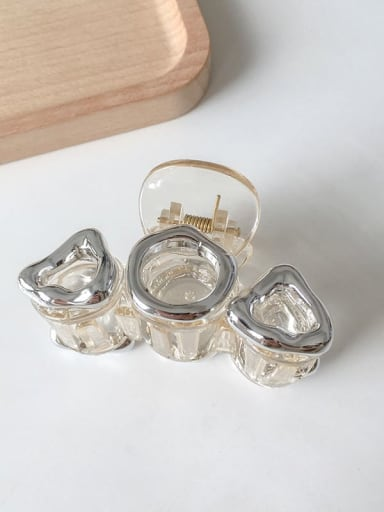 3 transparent  10cm Alloy Resin Vintage Geometric Jaw Hair Claw