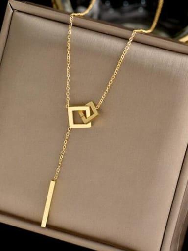 Titanium Tassel Minimalist  geometry pendant Necklace