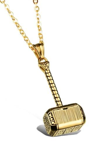 gold with O-chain 350cm Titanium Geometric Vintage pendant Necklace