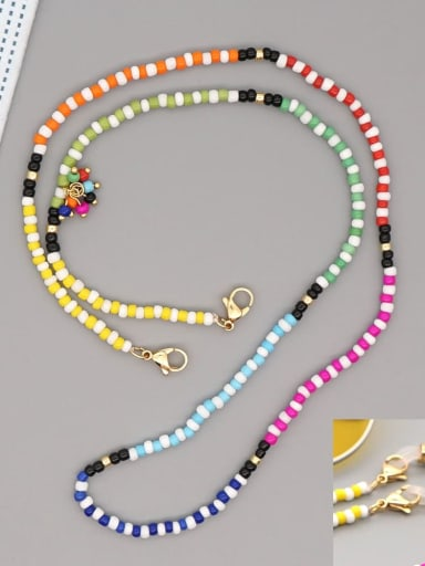 GZ N200004B Stainless steel Multi Color TOHAO  Bead  Bohemia Hand-woven Necklace