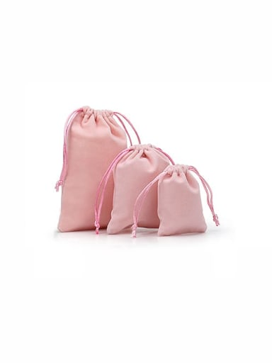 Pink Flannel Beam Port Velvet Pouches Bag For Earrings,Rings,Necklaces,Bracelets And Brooches