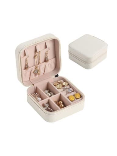 2 Layers PU Leather Jewelry Storage Box 10cmX10cmX5cm