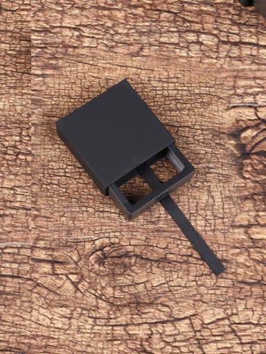 Black Dustproof Suspension Case Transparent Jewelry Box