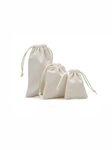 White Flannel Beam Port Velvet Pouches Bag For Earrings,Rings,Necklaces,Bracelets And Brooches