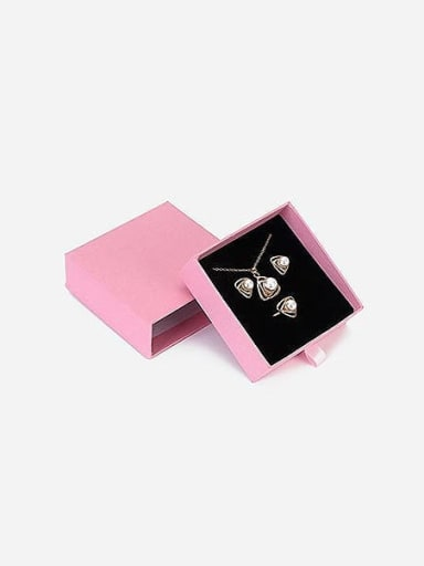 Pink Eco-friendly Paper Pull Out Jewelry Box For Bracelets,Necklaces,Bangles and Small Jewelry Sets