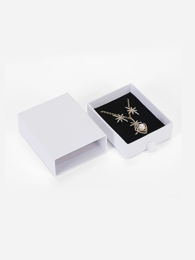 White Eco-Friendly Paper Pull Out Jewelry Box For Necklaces,Earrings,Brooches
