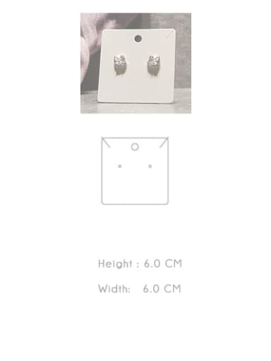 H6.cm * W6.0cm Customize Pager White Jewelry Display Card Holder For Earrings,Necklaces,Bracletes,Rings and Hair Accessories