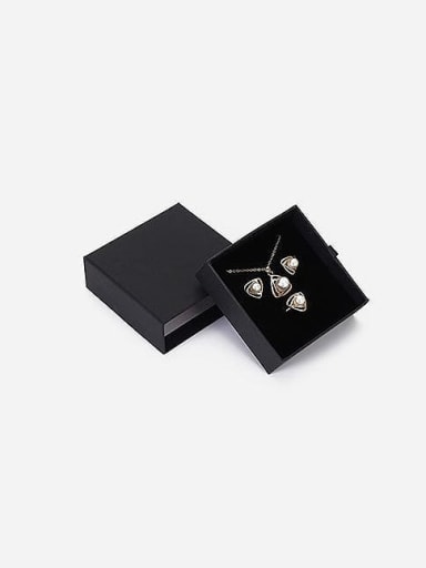 Black Eco-friendly Paper Pull Out Jewelry Box For Bracelets,Necklaces,Bangles and Small Jewelry Sets