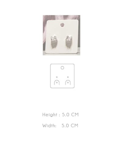 H5.0cm * W5.0cm Customize Pager White Jewelry Display Card Holder For Earrings,Necklaces,Bracletes,Rings and Hair Accessories