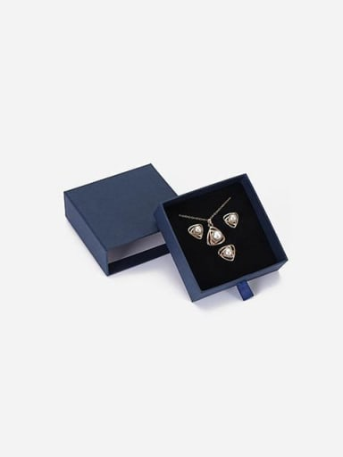 Blue Eco-friendly Paper Pull Out Jewelry Box For Bracelets,Necklaces,Bangles and Small Jewelry Sets