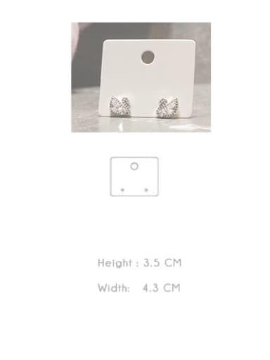 H3.5cm * W4.3cm Customize Pager White Jewelry Display Card Holder For Earrings,Necklaces,Bracletes,Rings and Hair Accessories