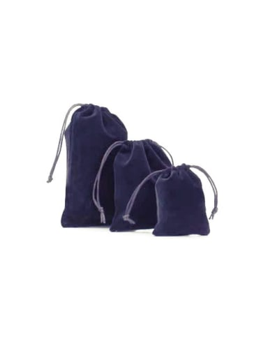 Blue Flannel Beam Port Velvet Pouches Bag For Earrings,Rings,Necklaces,Bracelets And Brooches
