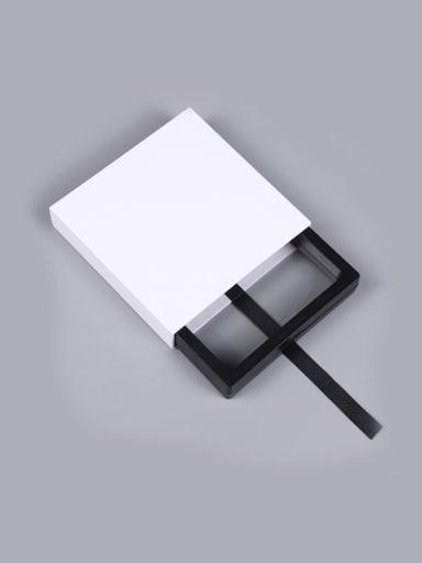 White Dustproof Suspension Case Transparent Jewelry Box