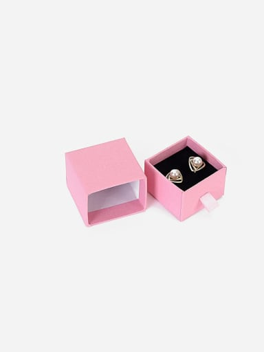 Pink Eco-Friendly Paper Pull Out Jewelry Box For Rings, Small Earrings