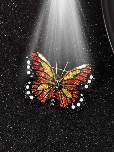 Alloy Rhinestone Multi Color Enamel Butterfly Dainty Brooch