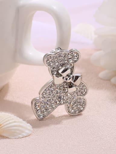 Korean bow sweet bear brooch brooch female accessories