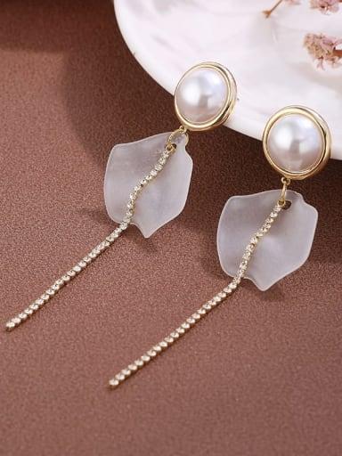 Brass Cubic Zirconia Fashion   long Tassel Earrings