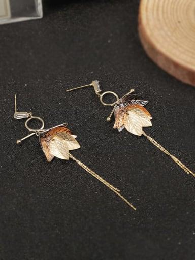 Brass Tassel Classic Drop Earring