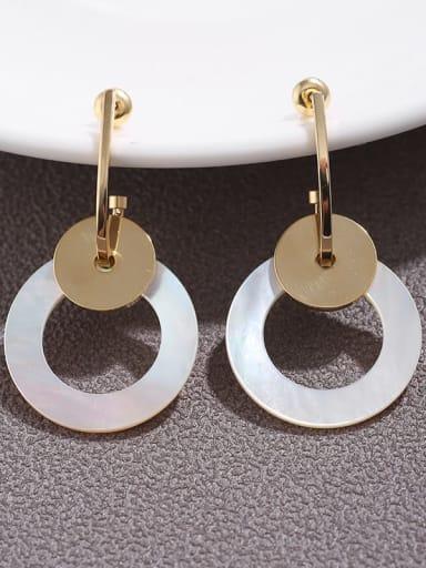Brass  Cubic Zirconia fashion  Geometric pendant Earrings
