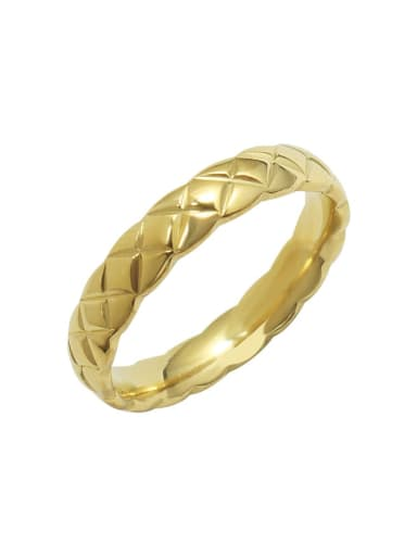 Titanium Steel Geometric Minimalist Band Ring
