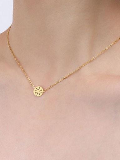 P335 gold necklace 40 +5cm Titanium Steel  Minimalist Irregular Earring Bracelet and Necklace Set