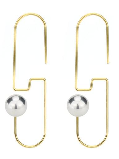 Stainless steel Imitation Pearl Geometric Minimalist Hook Earring