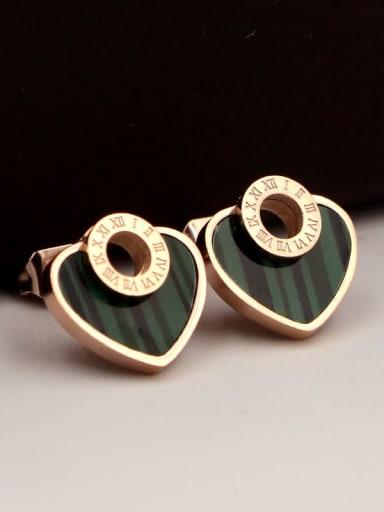 Titanium Heart Dainty Stud Earring