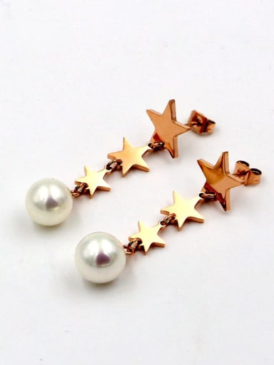 Titanium Star Dainty Drop Earring