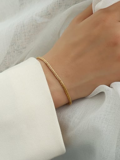 star  gold bracelet 14 +5cm Titanium 316L Stainless Steel Minimalist Irregular  Bangle and Necklace Set with e-coated waterproof