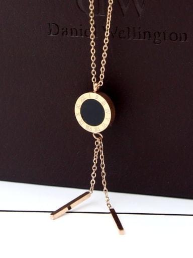 Titanium Shell Tassel Dainty Necklace