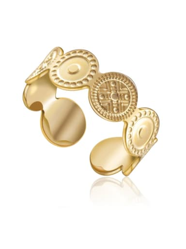 gold Advanced design open stainless steel ring