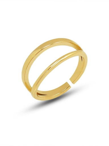 A263 gold open ring Titanium Steel Geometric Minimalist Stackable Ring
