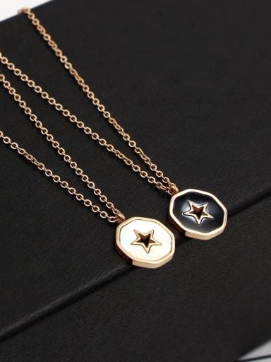 Titanium Shell Star Dainty Necklace