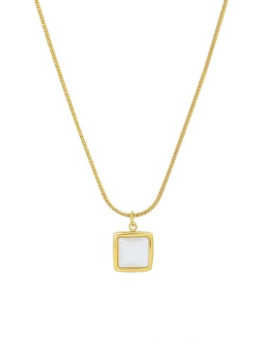 Titanium Steel Shell Geometric Minimalist Necklace