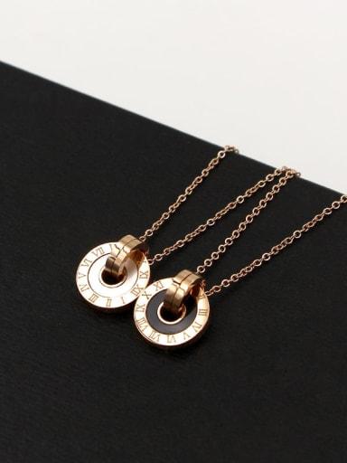 Titanium Acrylic Number Minimalist Necklace